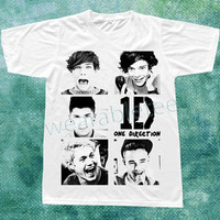 One Direction T-Shirts 1D TShirts Pop Rock Tee Shirts White TShirts Unisex TShirts Women TShirts Men TShirts One Direction Shirts