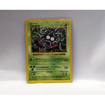 Shadowless Tangela 66/102 Pokemon Base Set NM