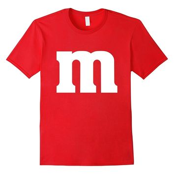 M Candy Easy Halloween Costume DIY Funny Clever Idea T-Shirt