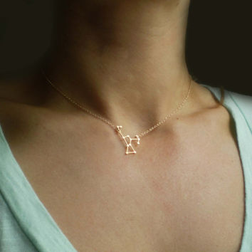 Orion Constellation Necklace -  Delicate 14k Gold Filled or Sterling Silver