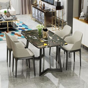 Nordic Marble Stylish Dining Or Coffee Table With Chairs