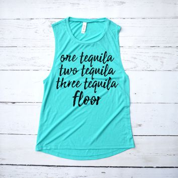 Funny Tequila Muscle Tank Top