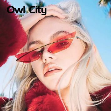 Owl City 2018 Cat Eye Sunglasses Women Retro Female Sun Glasses Trending Styles Vintage Ladies Brand Designer Mirror Shades
