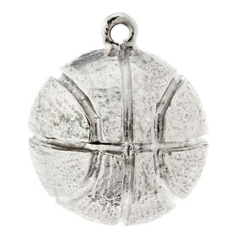Silver Basketball Charm by Atruette- Peace Players International