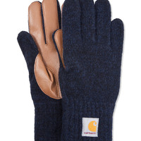 Navy Heather/Camel Logg Gloves
