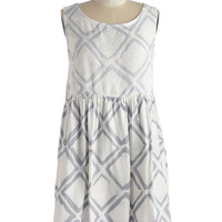 ModCloth Eco-Friendly Mid-length Sleeveless Shift Art Show Stopper Dress