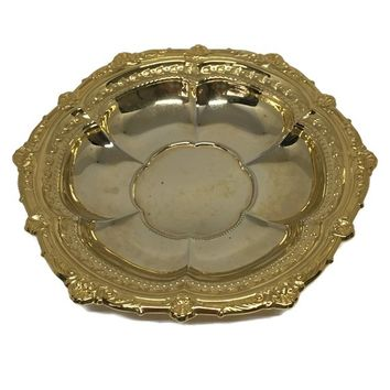 Multi-Purpose Gold Dish, Ring Dish, Soap Dish, Trinket Dish, Butter Dish, Jewelry Dish or Catch-All Dish, 24K Gold Electroplate WMF