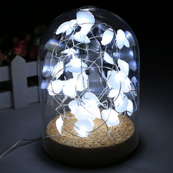 New 3M 40 LED Copper Wire String Light Shell Battery Power Party Christmas Decor Light With Remote Control