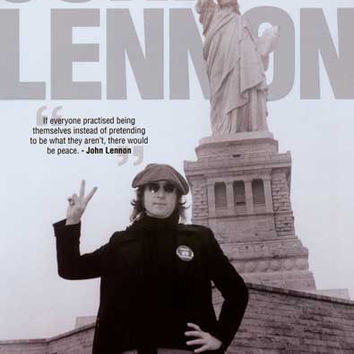 John Lennon Peace and Liberty Poster 24x36