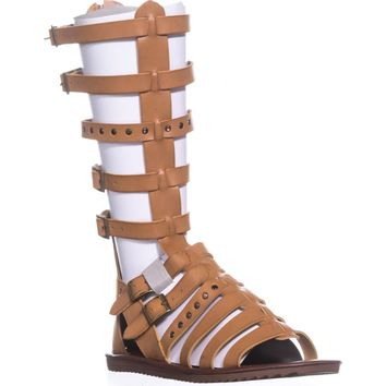 Seven Dials Sarita Knee-High Gladiator Sandals, Tan, 5.5 US