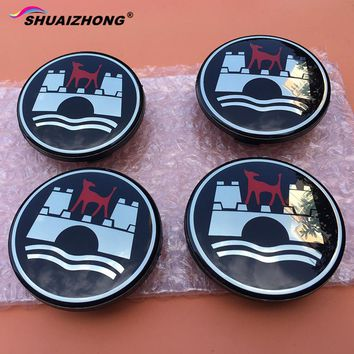 SHUAIZHONG 4pcs 65mm Wolfsburg logo Wheel Center Hub Cap Badge Rim decoration emblem covers styling