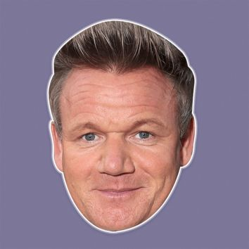 Sexy Gordon Ramsay Mask - Perfect for Halloween, Costume Party Mask, Masquerades, Parties, Festivals, Concerts - Jumbo Size Waterproof Laminated Mask