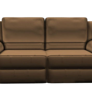 Genoa Leather Loveseat by Natuzzi Editions