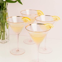 Anything Goes Martini Glass Set of 4