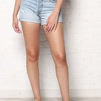 Levi's 501 Long Cuffed Shorts - North Beach Blues