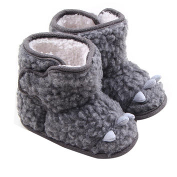 Newborn Baby Girl Boy Shoes Winter Warm Fleece Snow Boots Infant Toddler Soft Sole Amazing Aug 6