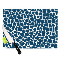 "Project M ""British Mosaic Navy"" Cutting Board"