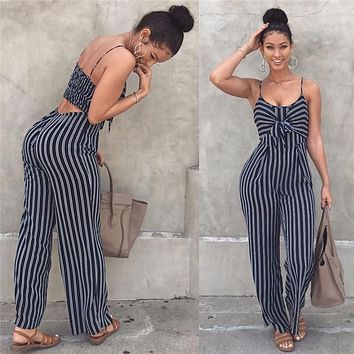 Mykonos Striped Jumpsuit