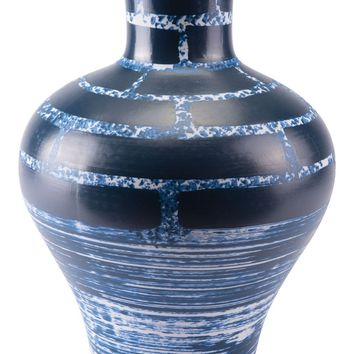 Ocean Tall Vase Blue & White