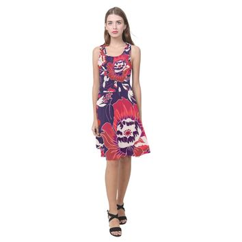 Colorful Flowers Summer Beach Dress