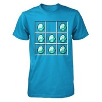 Minecraft Diamond Crafting Officially Licensed Authentic Youth Kids T-shirt XS