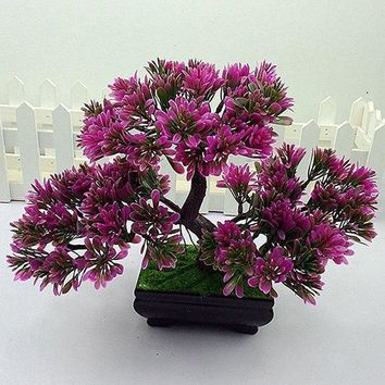 Home Decoration Bonsai Artificial Potted Tree Plant Craft