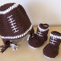 baby boy clothes, baby boy football hat and booties