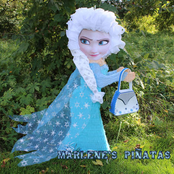 Olaf, Elsa or Anna pinatas, Frozen pinatas and party decoration ...!