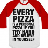 White/Red T-Shirt | Funny Pizza Shirts