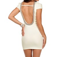 Ivory Scuba Scoop Back Dress