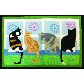 Jellybean Kitties In The Window Accent Area Rug