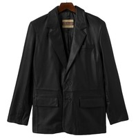 Excelled Leather Blazer Jacket