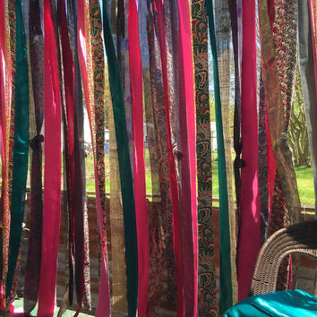 Gentil Bohemian Curtain ~ 7u0027 Drop Hippie Curtain, Long ~ Junk Gypsy St
