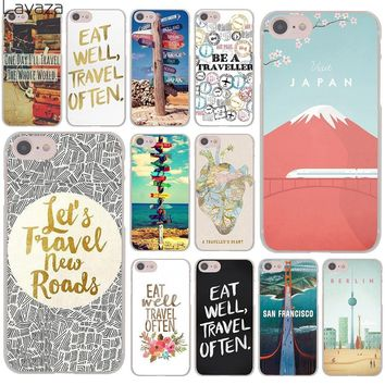 eat well travel often poster signpost i ourneys Hard Cover Case for Apple iPhone