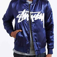 Stussy Stock Satin Jacket- Navy