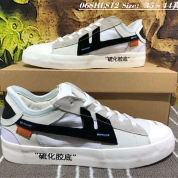 hcxx Nike The Remade x K.Yee OFF-WHITE Canvas Skate Shoes Black