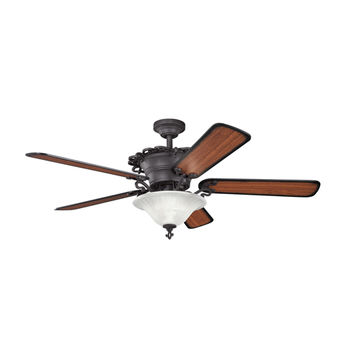 Kichler 300006DBK Wilton Distressed Black Three Light Ceiling Fan