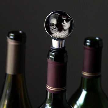 Personalized Wine Bottle Stopper with Photo