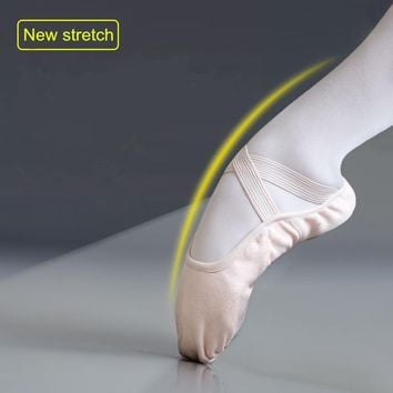 Women Men Adult Ballerina Shoe Stretch Cotton Fabric Soft Sole Flats Sapato Feminino Ballet Dance Shoes Without Drawstring