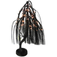 Halloween Black Willow Tree 3 Foot Lighted Halloween Decor