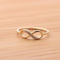 INFINITY ring with crystalsin gold by bythecoco on Zibbet