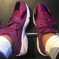 Nike Huarache Bleached Lilac Women Breathable Running Sport Sneakers Shoes