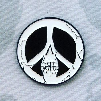 Skull Peace Enamel Pin