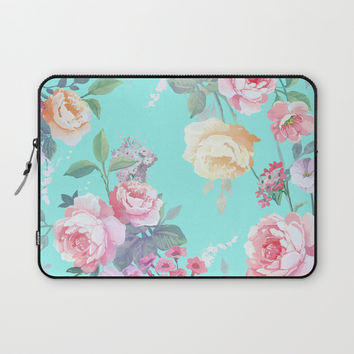 Floral pattern Laptop Sleeve by printapix