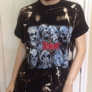Slipknot // t shirt// grunge// cut off // band shirt // concert shirt // rock // rock shirt// bleached