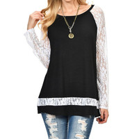 Sexy Lace Patchwork Blouses 2017 New Arrival Women Blusas Femininas Casual Long Sleeve O Neck Shirts Floral Crochet Tops