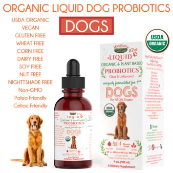 (DOG) USDA Organic Liquid Probiotic for DOGS by MaryRuth Organics Pet- 100% Plant Based