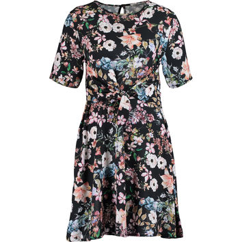 48a15f2739 Black Floral Tie Front Dress - Dresses - Clothing - Women - TK Maxx