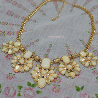 Path To Success Ivory Glam Statement Necklace