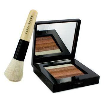 Bobbi Brown Bronze Shimmer Brick Set: Bronze Shimmer Brick Compact + Mini Face Blender Brush (Limited Edition) Make Up